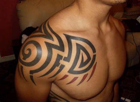 tribal tattoo on chest and shoulder tribal designs for shoulder tribal