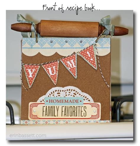 Handmade Book Ideas - handmade recipe book creativite by erin bassett