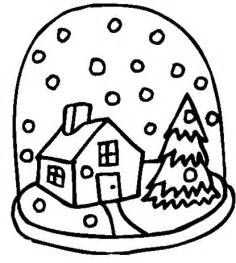 Related pictures snow globe coloring page