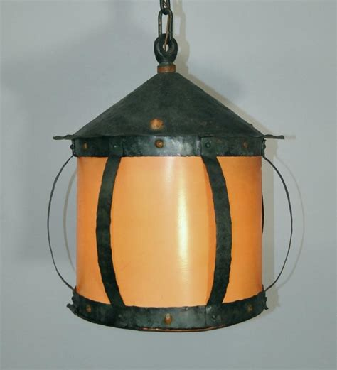 arts and crafts light fixtures arts and crafts hammered iron hanging lantern chandelier