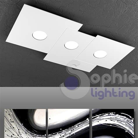 plafoniere design soffitto plafoniera soffitto 3 led 27w design bianco