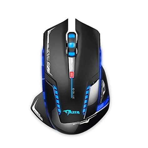 Mouse Wireless E Smile Bd500 creative gaming mouse blue mazer 2500 dpi usb 2 4ghz