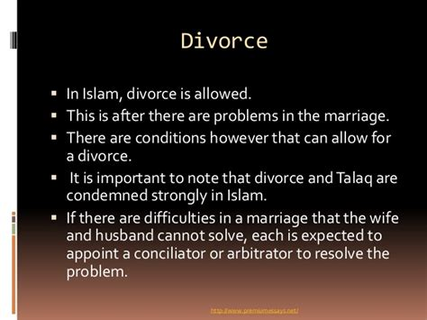 Divorce Letter In Islam Islamic Views On Marriage And Divorce