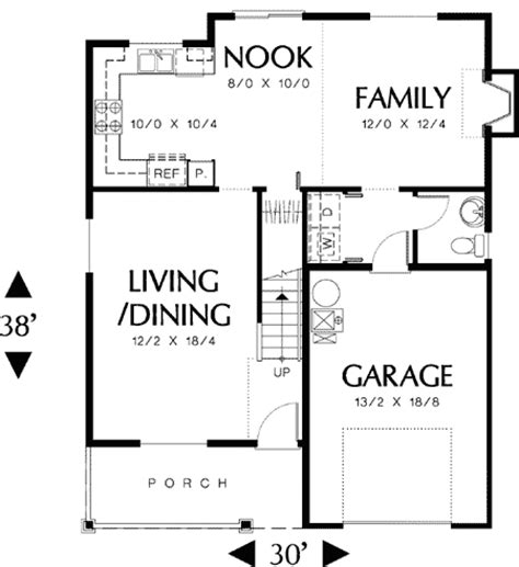 simple floor plan simple to build 69179am 2nd floor master suite cad