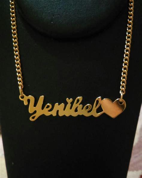 cadenas con nombre oro cadena de nombre personalizado con ba 241 o de oro bs 1