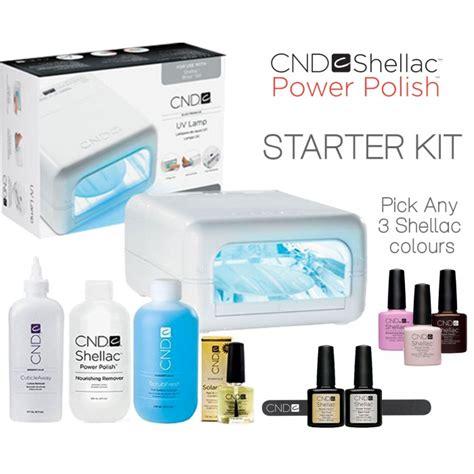 Shellac Starter Kit With L by Cnd Shellac Starter Kit 3 Colors Uv L Salon