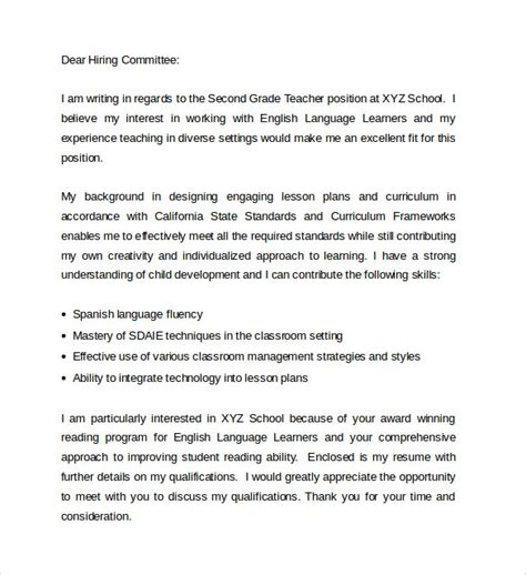 Teaching Cover Letter Pdf Sle Education Cover Letter Exle 9 Free Documents In Pdf Word