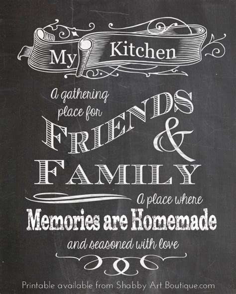 kitchen inheritance memories and recipes from my family of cooks books 5 chalkboard tips and a free printable shabby boutique