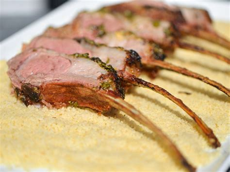 rack of lamb on grill grilled moroccan spiced rack of lamb recipe serious eats