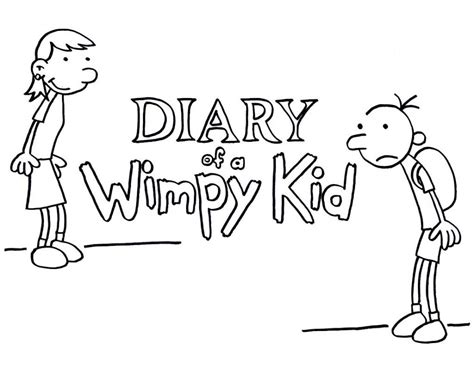 diary of a wimpy kid coloring pages coloring home
