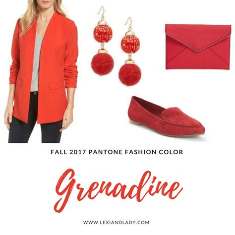 grenadine color and ladyfall 2017 pantone fashion color grenadine