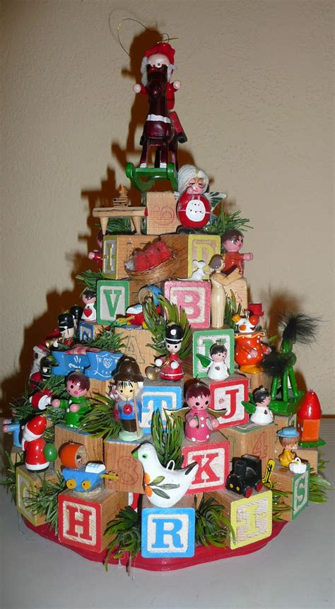 home  story begins family heirloom childrens block christmas tree diy craft project
