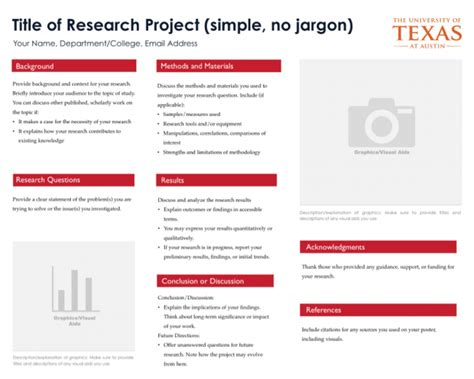scientific poster template all free word templates