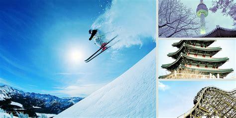 korea winter ski snow  days  pan pacific travel