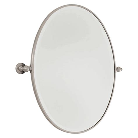 for sale brushed nickel standard oval pivoting bathroom 24 1 2 inch brushed nickel oval pivoting mirror