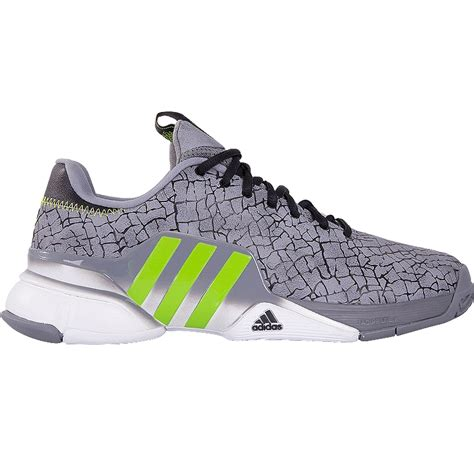 adidas barricade 2016 hannibal s tennis shoe grey lime