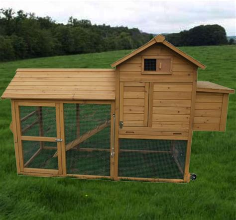 portable backyard chicken coop small animal supplies pawhut deluxe portable wood chicken
