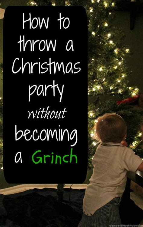 how to throw a christmas party without becoming a grinch