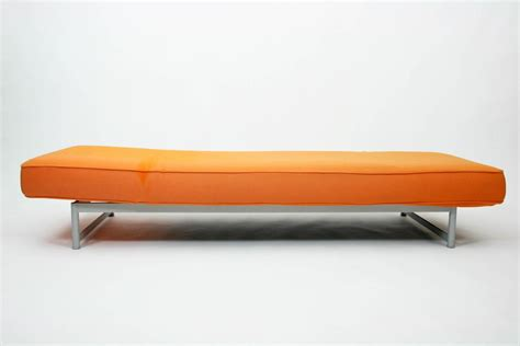 bench orange piero lissoni reef bench chaise longue in orange felt for cassina at 1stdibs