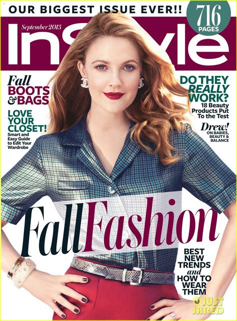 On Cover Of In Style by Sized Photo Of Drew Barrymore Covers Instyle