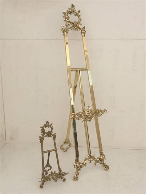 polished brass floor easel for sale at 1stdibs