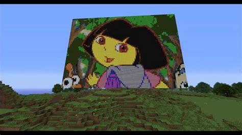 minecraft dora  explorer pixel art  youtube