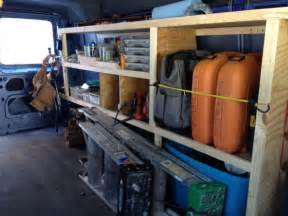 work truck shelving work shelves vehicles contractor talk