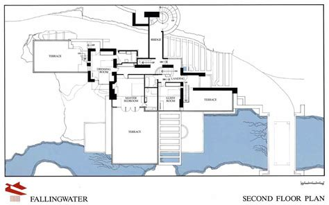 falling water floor plans frank lloyd wright fallingwater first floor plan
