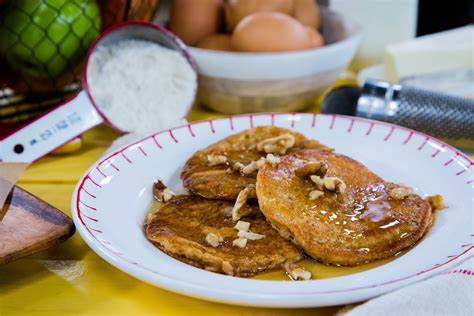 recipes apple dipped pancakes home family hallmark