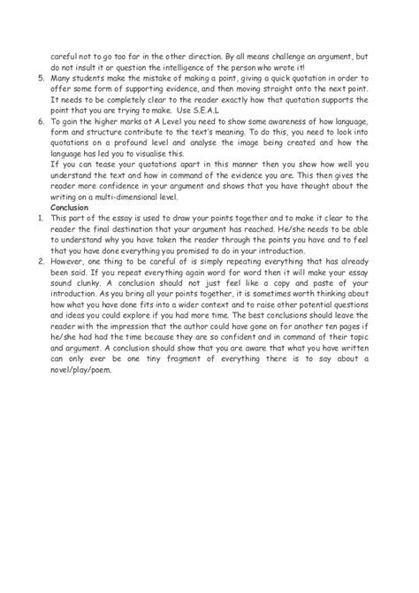 Literature And Language A Level Essay Structure by Structure A2 Language Essay