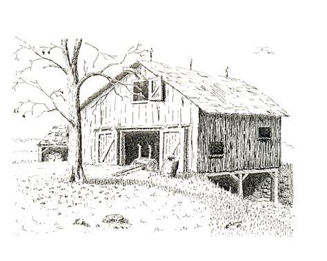 scheune zeichnung bob easton 187 artwork