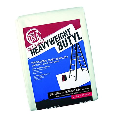 trimaco 9 ft x 12 ft school heavy weight butyl drop