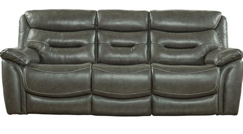 furniture gray reclining sofa bennato gray leather reclining sofa transitional