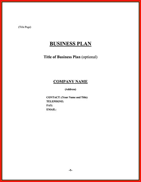 cover page for business plan template business plan cover page apa exle