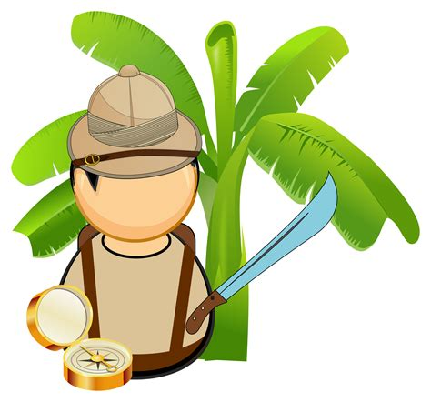 jungle explorer vector clipart image  stock photo
