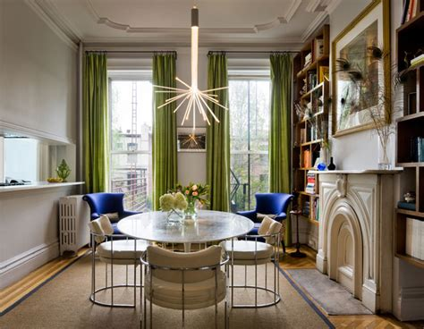 Houzz Green Dining Room Residence By Fawn Galli Interior Design