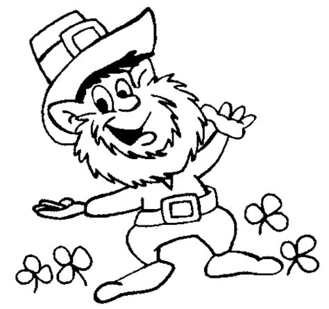 printable leprechaun images st patricks day coloring pages dr odd