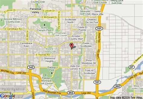 us map scottsdale arizona map of courtyard by marriott scottsdale town scottsdale