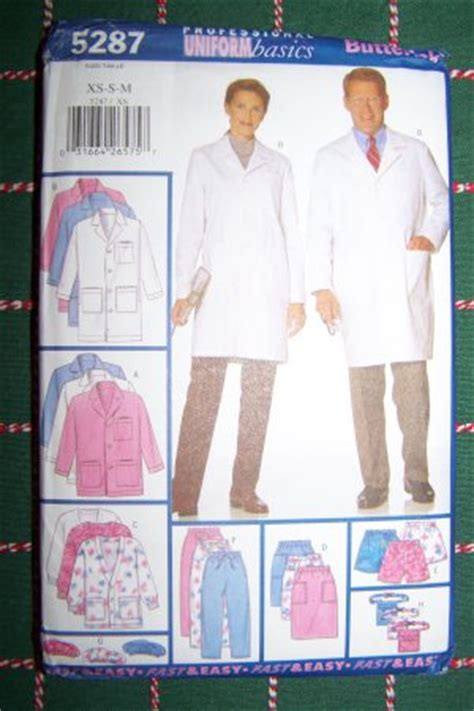 free sewing pattern lab coat new dr nurse professional uniform scrubs sewing pattern