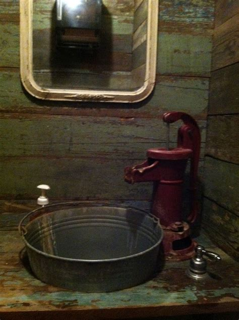 love this a bathroom sink for the cabin themed home