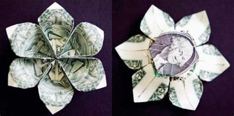 Plumeria Dollar Origami - money origami 10 flowers to fold using a dollar bill