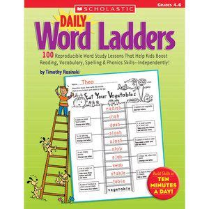 daily word ladders grades 4 6 100 reproducible word study lessons that help boost reading vocabulary spelling phonics skills independently 1000 images about 5th grade classroom on