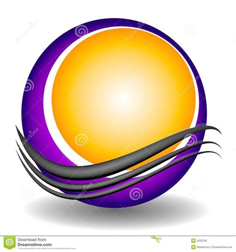 swoosh circle web site logo royalty  stock image