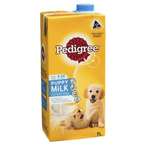 puppy milk pedigree puppy milk 6 x 1l petbarn