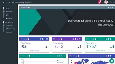 bootstrap ui pattern library bootstrap material design dashboard widgets pack by