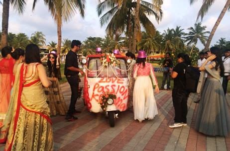 goa wedding events photos a fun filled goa wedding by purple tree events india