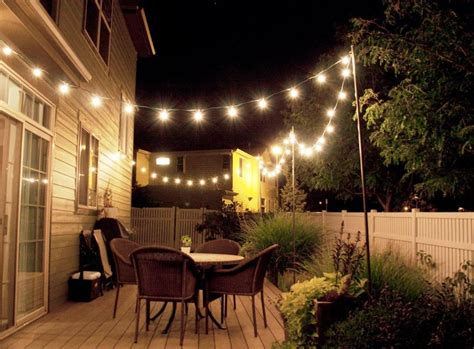 inexpensive outdoor lighting cheap backyard lighting ideas emerson design backyard