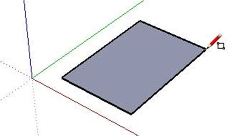 sketchup layout rectangle dimensions creating geometry with the push pull tool sketchup