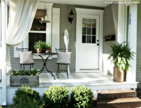 Vintage home love back side porch ideas for summer and an industrial pipe curtain rod how to