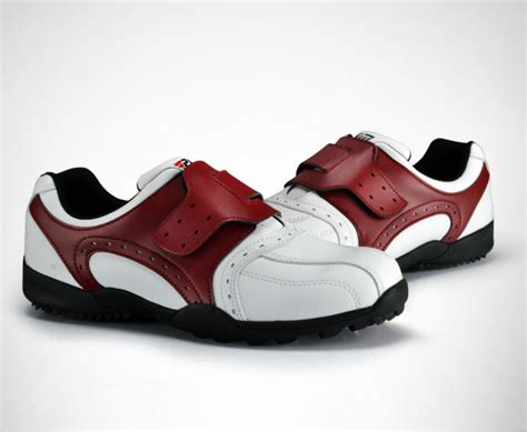 mens brand new golf shoes velcro shoes breathable fixed